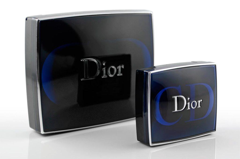 Diors Lidschatten-Paletten im Größenvergleich