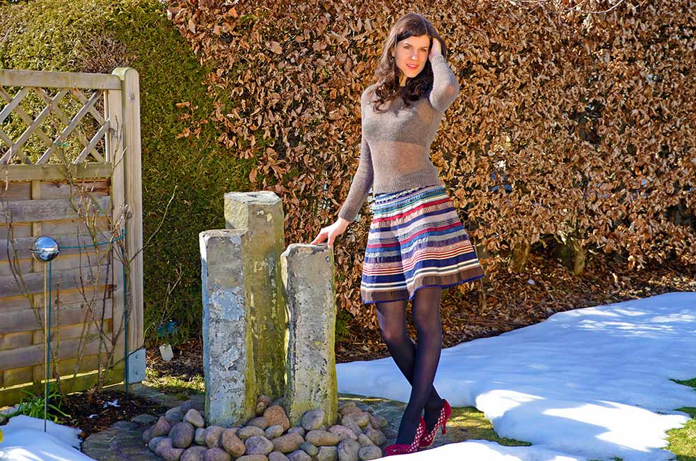 Lena Hoschek Ribbon Skirt im Winter