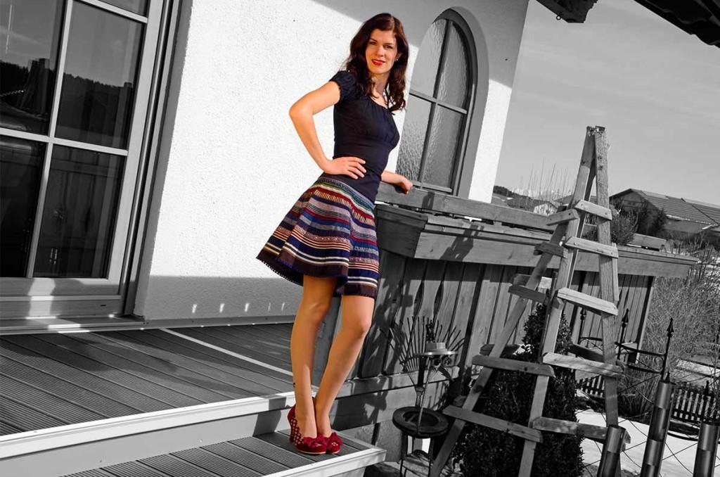 Lena Hoschek Ribbon Skirt an warmen Tagen