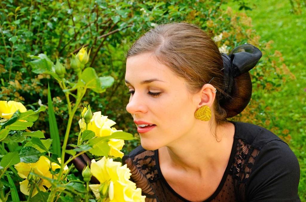Glitter-Paradise-Ohrringe in der Praxis