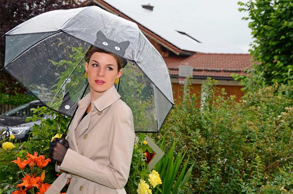It's Raining Cats Regenschirm mit Katzenmotiv
